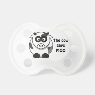 "Adorable Baby Cow ""The Cow Says MOO"" Pacifier"