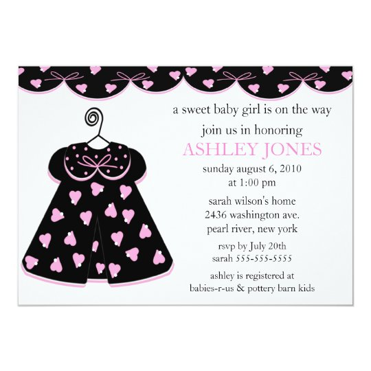 Adorable Baby Dress Baby Shower Card