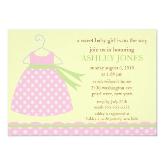 Adorable Baby Dress Baby Shower Personalized Announcements