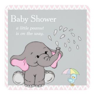 Adorable Baby Elephant Baby Shower Invitation