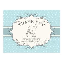 Adorable Baby Elephant | Baby Shower Thank You Postcard