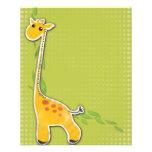 "adorable baby giraffe background 4.5"" x 5.6"" flyer"