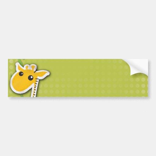 adorable baby giraffe background bumper sticker