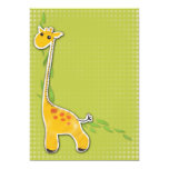 adorable baby giraffe background personalized announcements