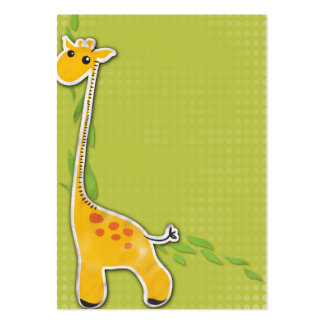 adorable baby giraffe background large business card