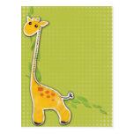 adorable baby giraffe background postcard