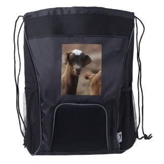 Adorable Baby Goat Drawstring Backpack