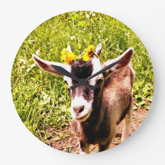Adorable Baby Goat Wall Clock