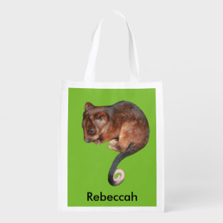 Adorable Baby Ringtail Possum in Australia Reusable Grocery Bag