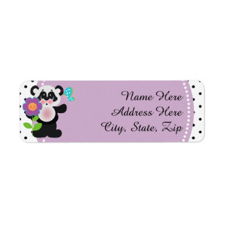 Adorable Baby Shower Custom Panda Bear Label