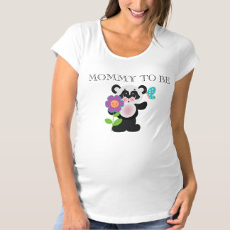Adorable Baby Shower Custom Panda Bear Maternity T-Shirt