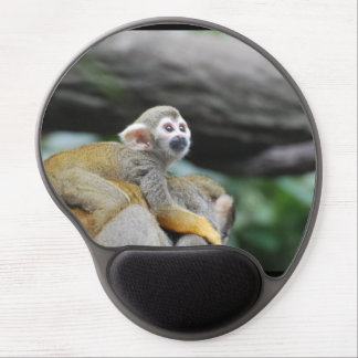 Adorable Baby Squirrel Monkey Gel Mouse Pad