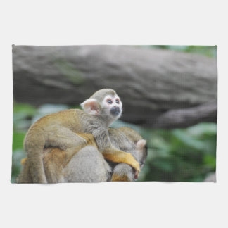 Adorable Baby Squirrel Monkey Kitchen Towel