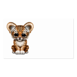 Adorable Baby Tiger Cub Business Card