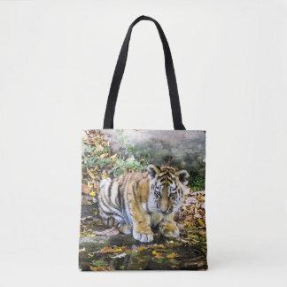 Adorable Baby Tiger Cub Tote Bag