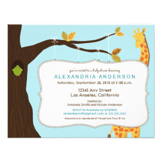 Adorable Baby Tree Baby Shower Invitation (aqua)