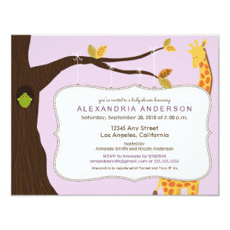 Adorable Baby Tree Baby Shower Invitation (lilac)