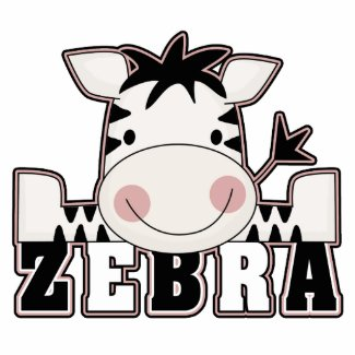 adorable baby zebra leaning with text acrylic cut outs