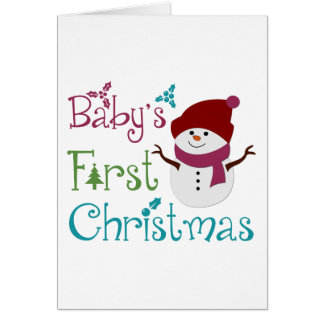 Adorable Babys First Christmas Card