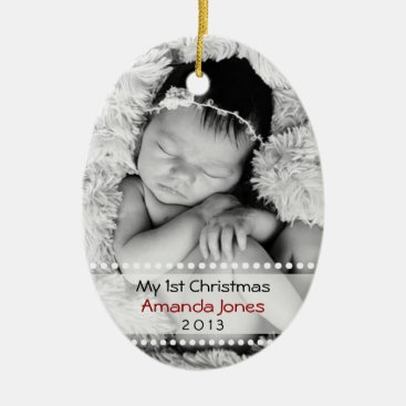 Toddler & Baby themed Adorable Babys First Christmas Ceramic Ornament
