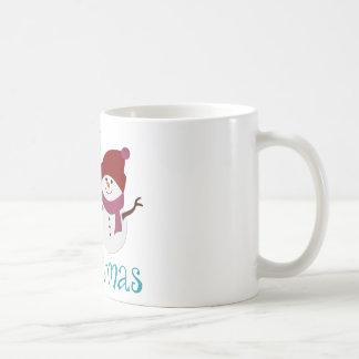 Adorable Babys First Christmas Classic White Coffee Mug