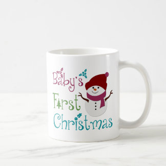 Adorable Babys First Christmas Coffee Mugs