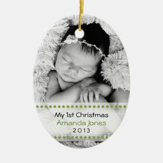 Adorable Babys First Christmas Christmas Tree Ornament