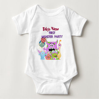 Adorable Babys First Monster Party tshirts
