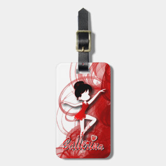 Adorable Ballerina Dancer | DIY Text | Red Bag Tag