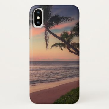 Adorable Beach Sunset Palm iPhone XS Case