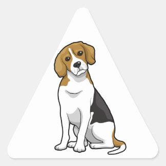 Adorable Beagle Triangle Sticker