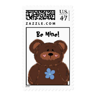 Adorable Bear Be Mine Stamp
