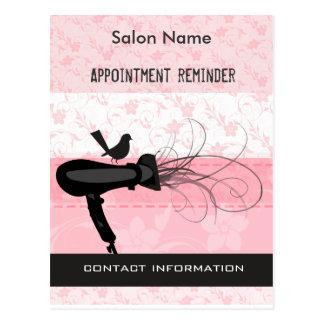 Adorable Beauty Salon Appointment Reminder Postcard