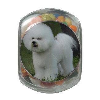 Adorable Bichon Glass Jar