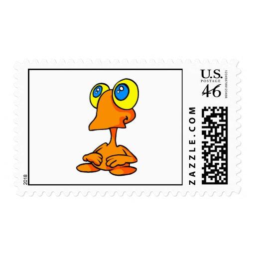 Adorable Big Eyed Alien Stamp