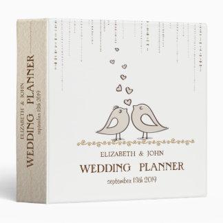 Adorable Birds In Love  Bridal Planner 3 Ring Binder