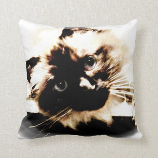 Adorable Birman Cat mojo throw pillow