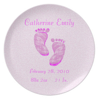 Adorable Birth Keepsake Plate - Personalized