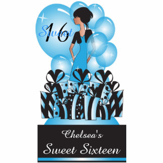 Adorable Birthday| Bachelorette Girl in Blue Statuette
