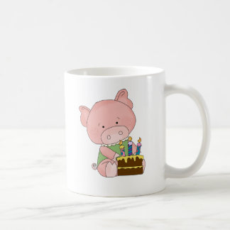 Adorable Birthday Pig Coffee Mug