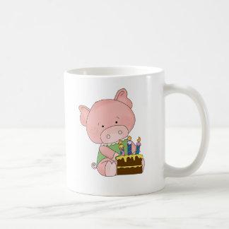 Adorable Birthday Pig Coffee Mug