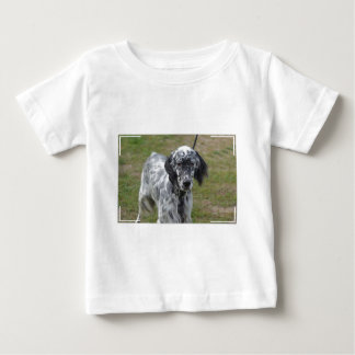 Adorable Black and White English Setter Baby T-Shirt