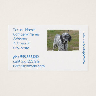 Adorable Black and White English Setter Business Card