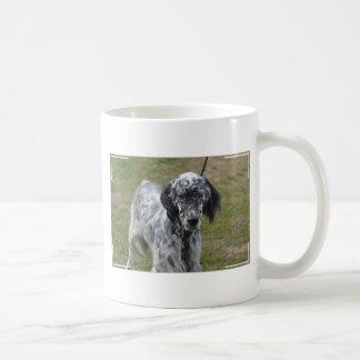 Adorable Black and White English Setter Coffee Mug
