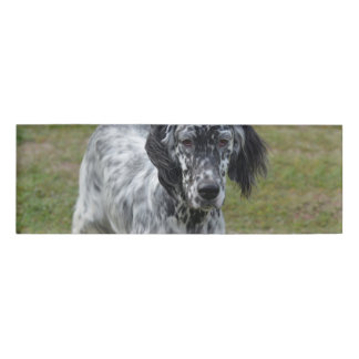 Adorable Black and White English Setter Dog Name Tag