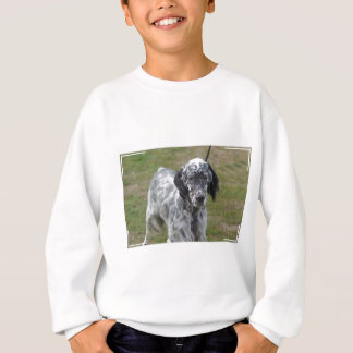 Adorable Black and White English Setter Sweatshirt