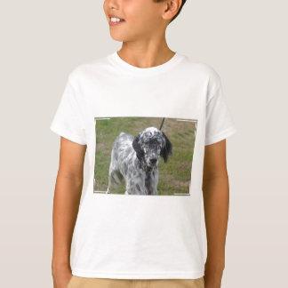 Adorable Black and White English Setter T-Shirt