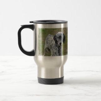 Adorable Black and White English Setter Travel Mug