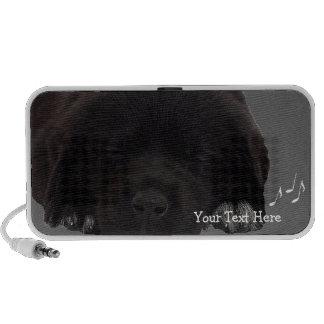 Adorable Black Lab Puppy Portable Speaker