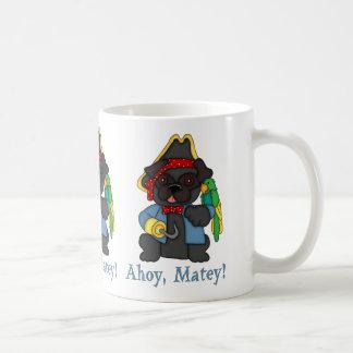 Adorable Black Pug Pirate Costume Tees, Gifts Coffee Mug
